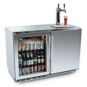 this is trouble - beer tap/mini fridge... for the man cave...but with root beer
