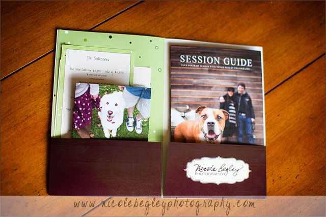 Photography welcome packet content