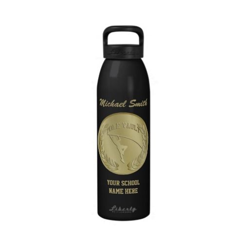 Gold Toned and Gray Pole Vault Liberty Bottle Drinking Bottle