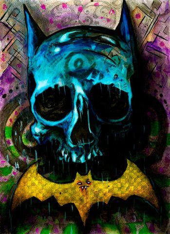 Batman Skull: Artistically Sane, Batman 3, Batman Skull, Batman Dc, Comics, Batman Obsession