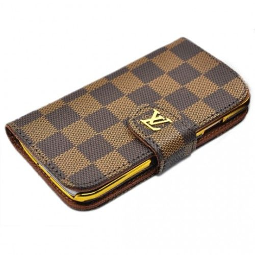 LV Leather Phone Case for Galaxy S4