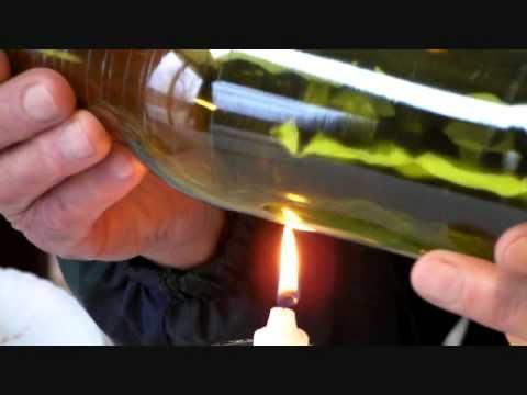easy to follow tutorial on cutting wine bottles to make drinking glasses