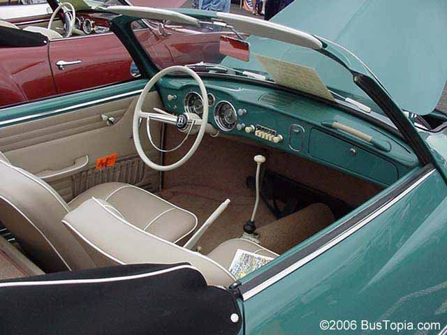 Beautiful Interior in Volkswagen Karmann Ghia Convertible