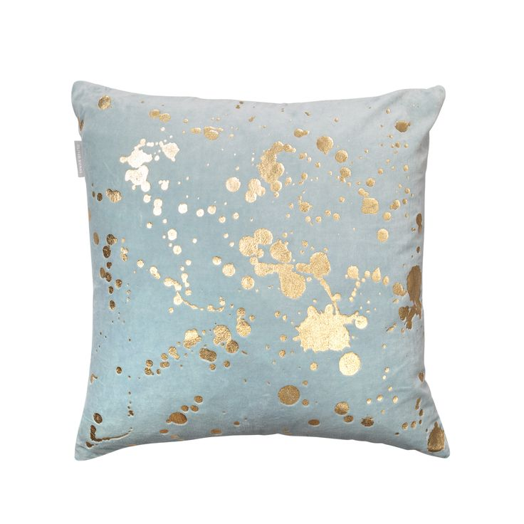 Buy the Blue Metallic Splatter Cushion at Oliver Bonas. Enjoy free UK standard…