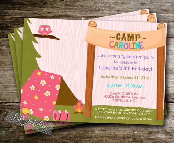 1000 Ideas About Camping Party Invitations On Pinterest