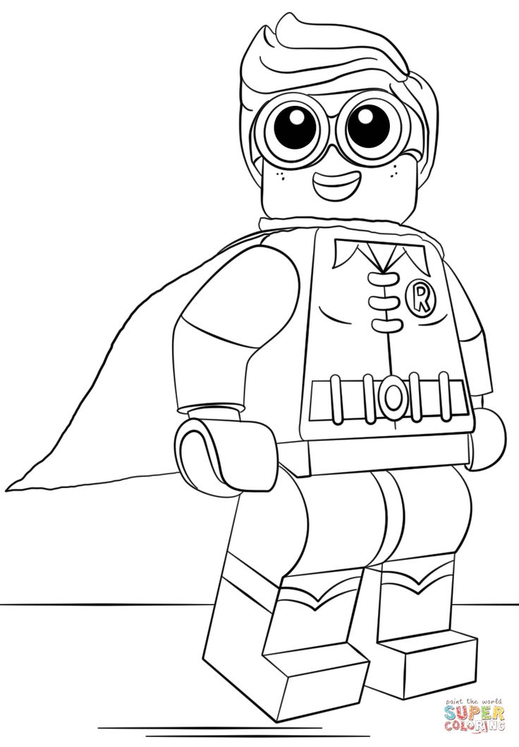 Lego Robin coloring page from The LEGO Batman Movie