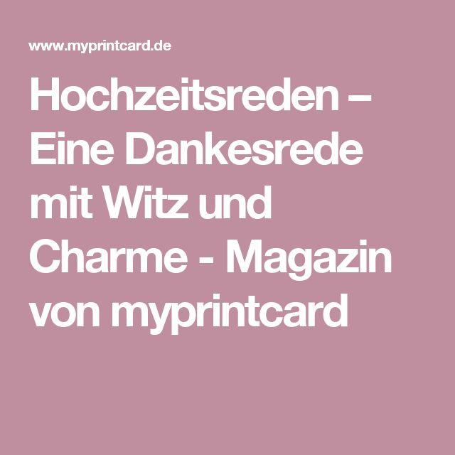 Hochzeitsreden – Eine Dankesrede mit Witz und Charme - Magazin von myprintcard