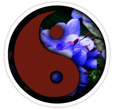 Yin - Yang Sticker 05 by StickerNuts
