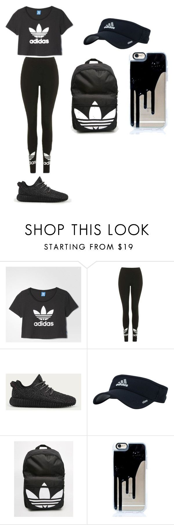 """""""Adidas"""" by mynameisyaya ❤ liked on Polyvore featuring adidas and Topshop"""