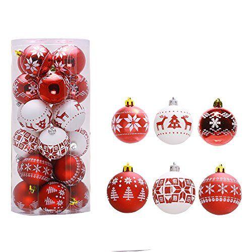 #Christbaumkugeln Rot Gold Glänzend Glitzernd #Christbaumschmuck #weihnachten #weihnachtsbaum #deko (Werbelink)