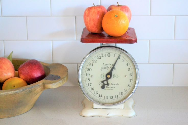Vintage American Family 25 Pound Scale   Vintage Rustic Kitchen Scale   Farmhouse Scale   Rusty Red Scale   Vintage Scale for Display by ChalksOLot on Etsy