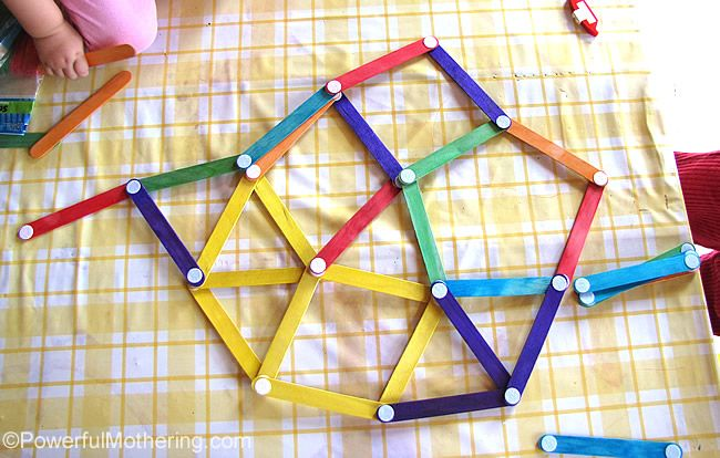 """Velcro Dot Craft Sticks: """"Attach velcro dots to every end of the craft stick making sure that you use the same kind of dot on the same side and the other for..."""""""