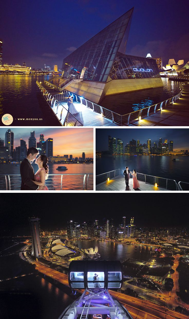 Marina bay sands pre wedding photography singapore by