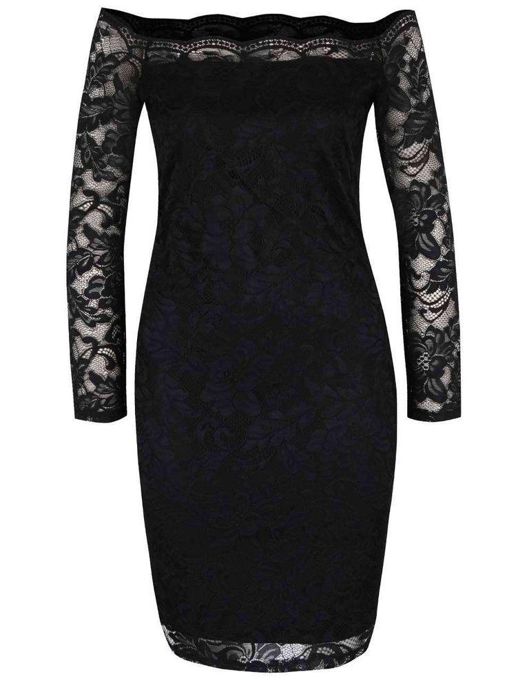 Rochie neagră din dantelă ONLY Moskat - Only