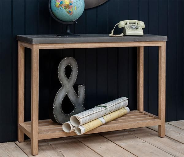 Gallery Hudson Living Brooklyn Console Table in Solid French Oak and Concrete - See more at: https://www.trendy-products.co.uk/product.php/8671/gallery_hudson_living_brooklyn_console_table_in_solid_french_oak_and_concrete#sthash.SJKpApV2.dpuf