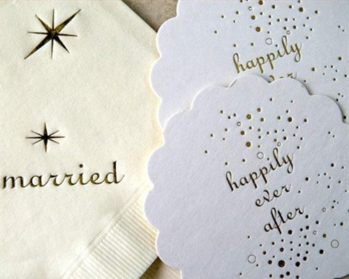 Today I'm Loving: Personalised Napkins - Wedding Obsessions   The Knot