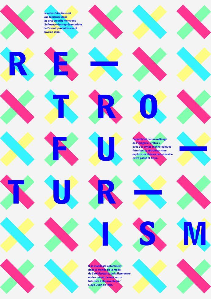 Typographic poster design | graphic design inspiration