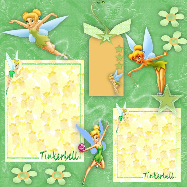 disney scrapbook pages ideas | ... Home Page >> Dare2bme's Scrapbooks >> Tinkerbell Quick Page - Page 1