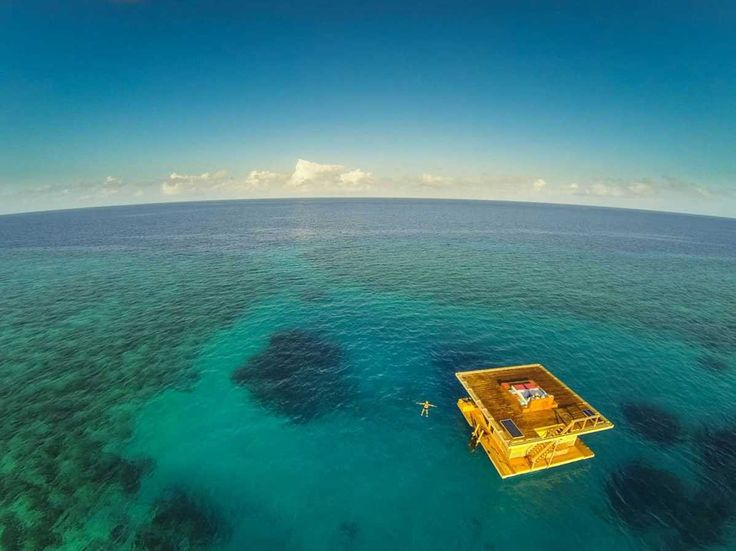 Wake up in the sea while staying in the underwater room at the Manta Resort on Pemba Island, off the coast of Tanzania.