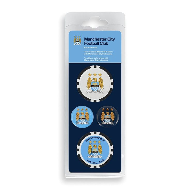 Team Effort Manchester City FC Golf Ball Marker Set, Multicolor