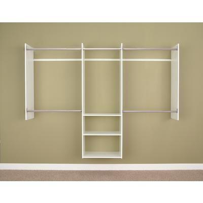 Martha Stewart Living - 1.22 m – 2.44 m nécessaire de départ de luxe pour placard - blanc - W1 - Home Depot Canada
