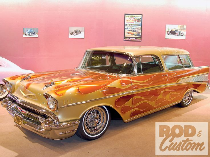 This 1957 Chevrolet Nomad was one of the first cars to bridge the low rider/kustom gap.