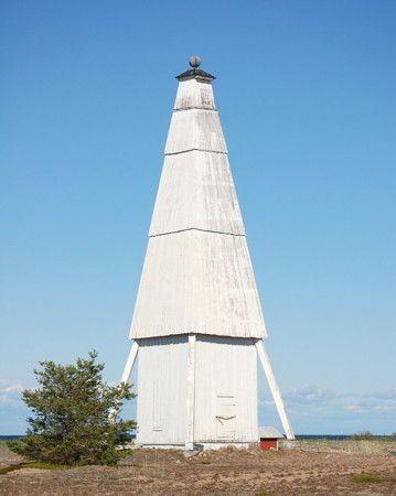 finland lighthouses | Keskiniemi Daybeacon, Hailuoto, Finland