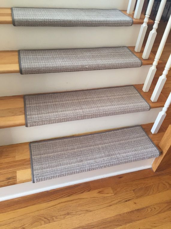 TRUE Bullnose™ Carpet Stair Tread Plaid By BullnoseStairTreads
