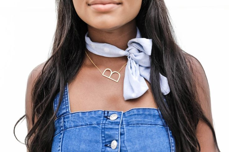 Initial Necklace - Fashion Scarf -Rodeo Drive Style Series -  Sophisticated - Chanfetti