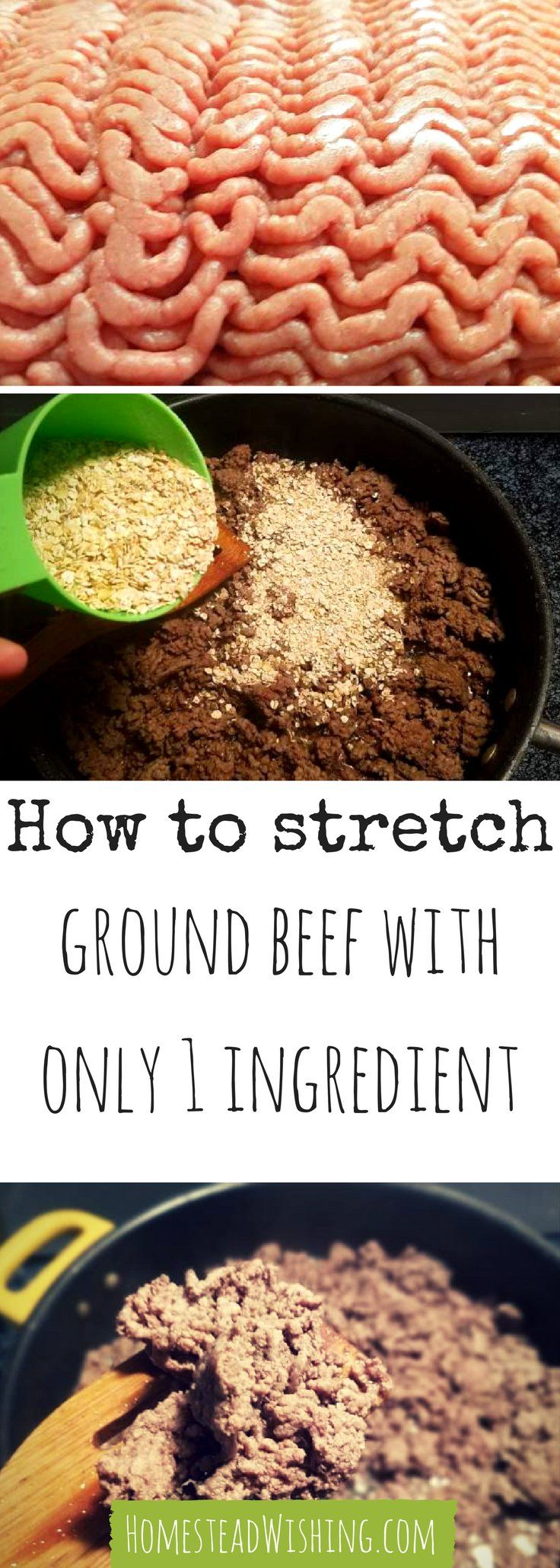 Stretching ground beef. Use one simple ingredient for stretching ground beef. It is simple cheap, and a great way to stretch your dollar. Meat prices are only going to get worse.