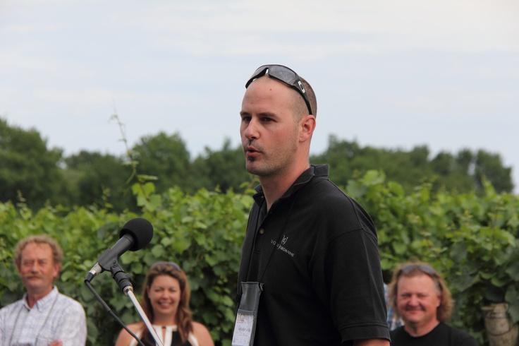 Sebastien Jacquey is Winemaker for Le Clos Jordanne in Jordan, Ontario.     (Photo by Bruce Jackson / Jackson-Triggs)