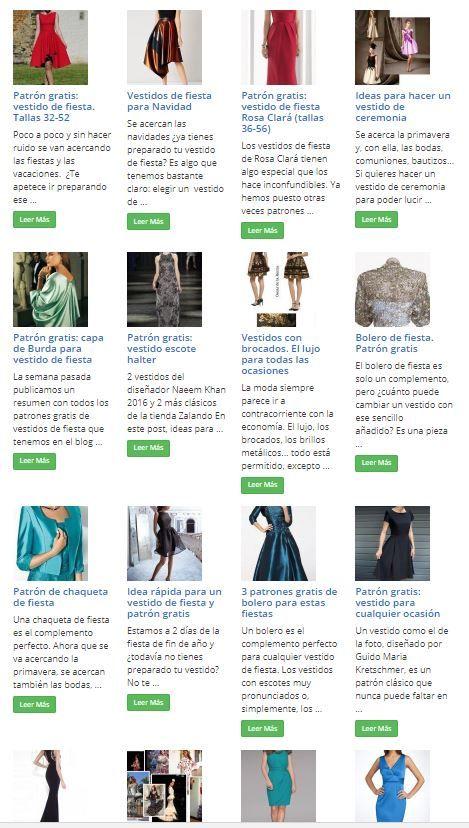 Todos los patrones gratis de vestidos de fiesta | moda y moldes ...