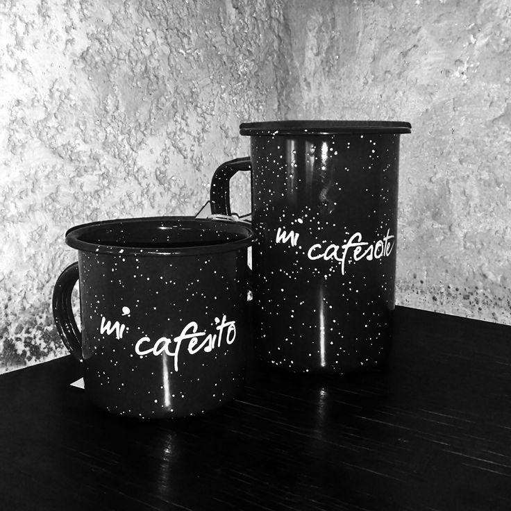 Petrita, carita, enamel ware. Vintage Mug de Peltre con diseño de impresión en tinta resistente al calor. Verano, decoracion de interiores Material: Peltre Hecho en México http://petritas.blogspot.mx/