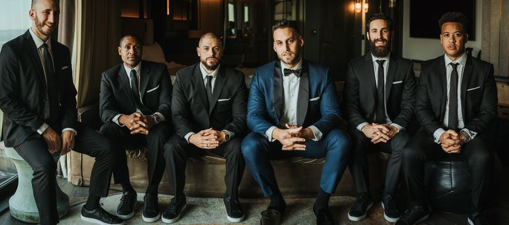 Groomsmen at Liberty Warehouse Brooklyn, Photography by Joel + Justyna Bedford