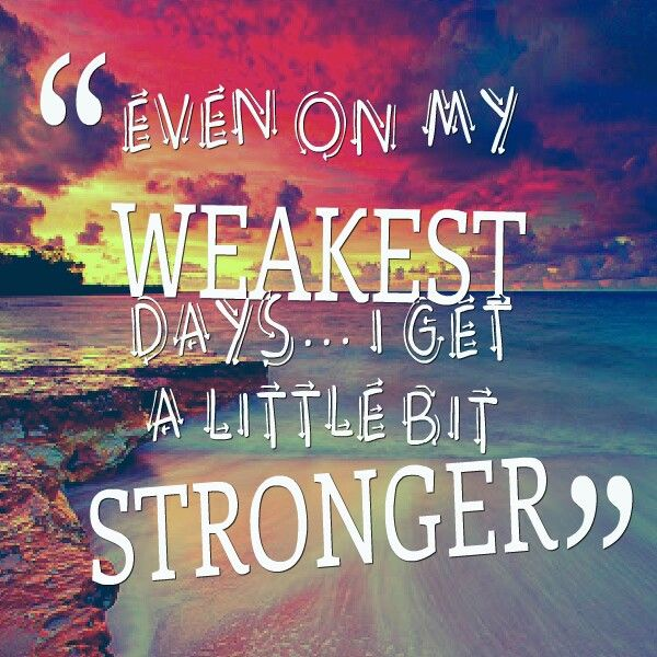 "Sara Evans with her song ""A Little Bit Stronger,"" it's definitely one of my favorites of hers."
