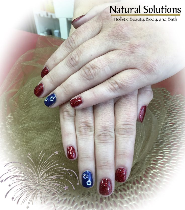 This nail service is a zoya polish service using a red and blue with sparkle design. We are looking for new clients. If you'd like to schedule a service, call 330-337-0703 or message us for an appointment. Nails by Stacey Kasler  #salemohio #salemoh #salemohiosalon #nails #manicure #shellac #ilovenails #nailmag #fabulousnails #boardmanohio #allianceohio #canfieldohio #youngstownohio #mountunioncollege #ysu #summernails