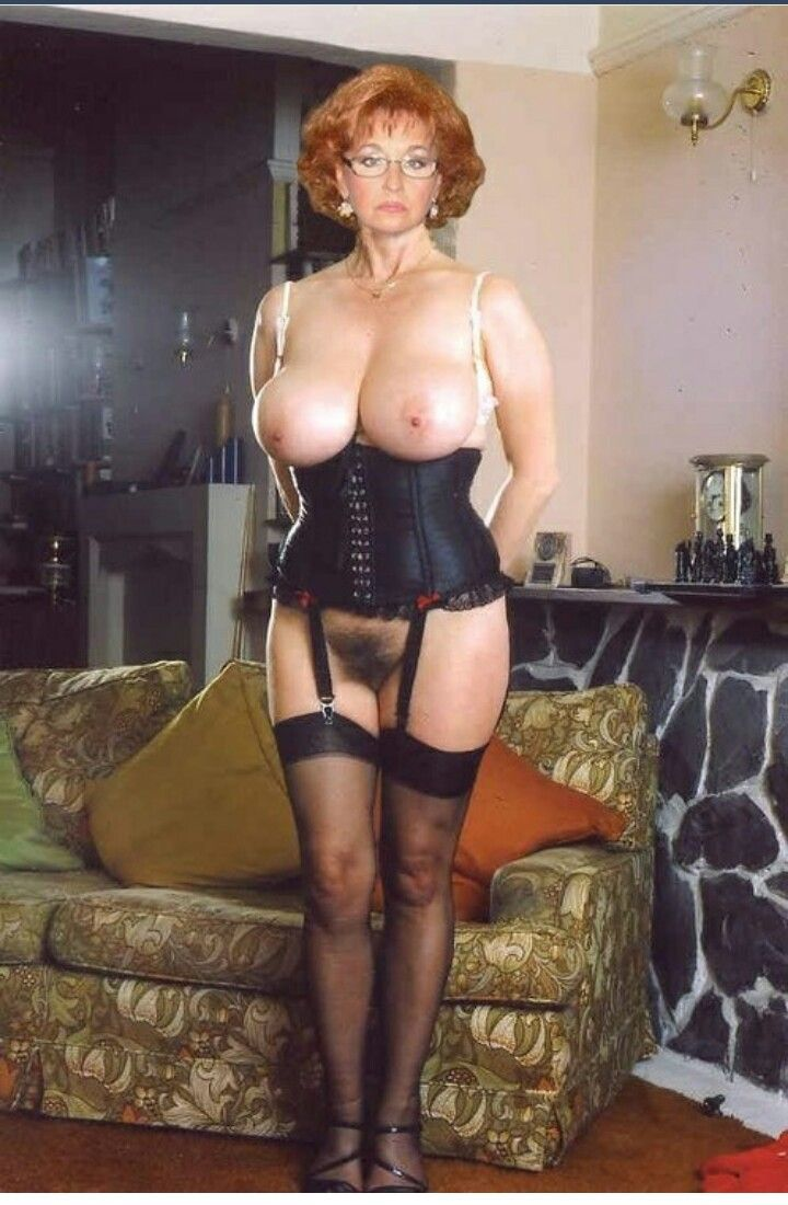 in lingerie tits with big Mature