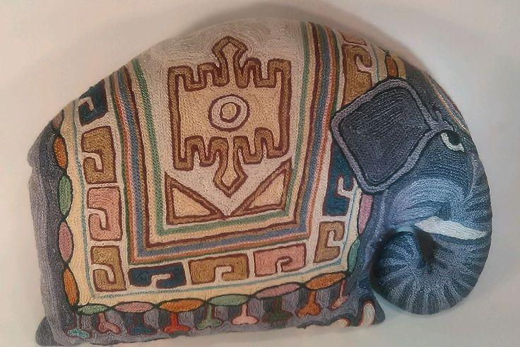 "Decorative 14"" Elephant Throw Pillow Colorful Design Sofa Bed Office Chair Decor #AnimalPrint"