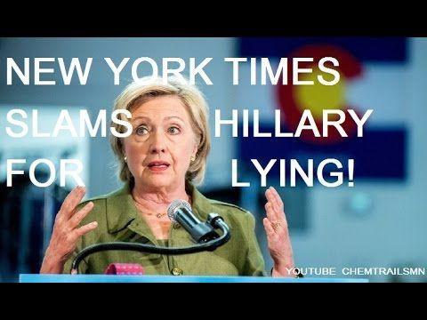 SHOCKING: NEW YORK TIMES SLAMS HILLARY CLINTON! LATEST BREAKING NEWS! - YouTube