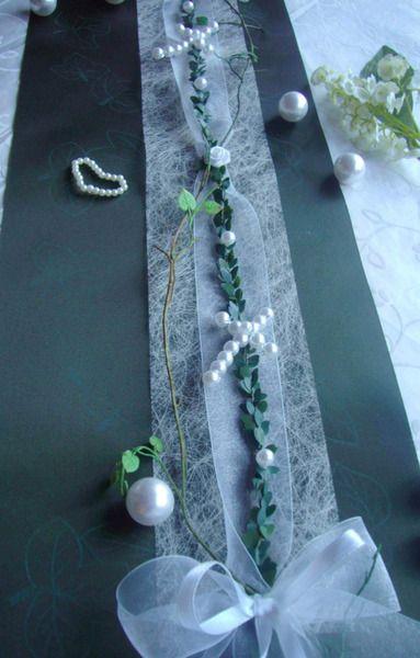 Dekoration - Tischband Kreuz Taufe Tischdeko Taufe Kommunion - ein Designerstück von Lavendel222 bei DaWanda