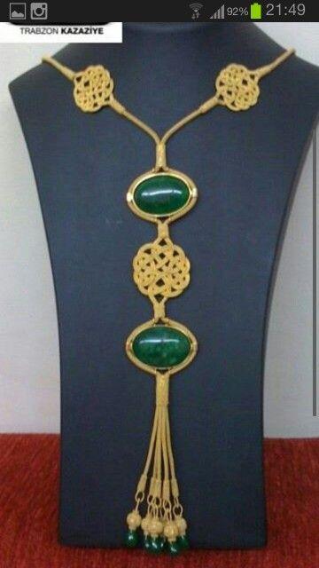 Gold kazaziye necklace from Trabzon
