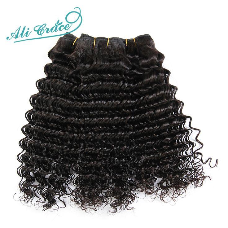 Ali Grace Hair Brazilian Deep Wave Virgin Hair 4Bundles, Unprocessed Brazilian Curly Virgin Hair Deep Wave Brazilian Hair