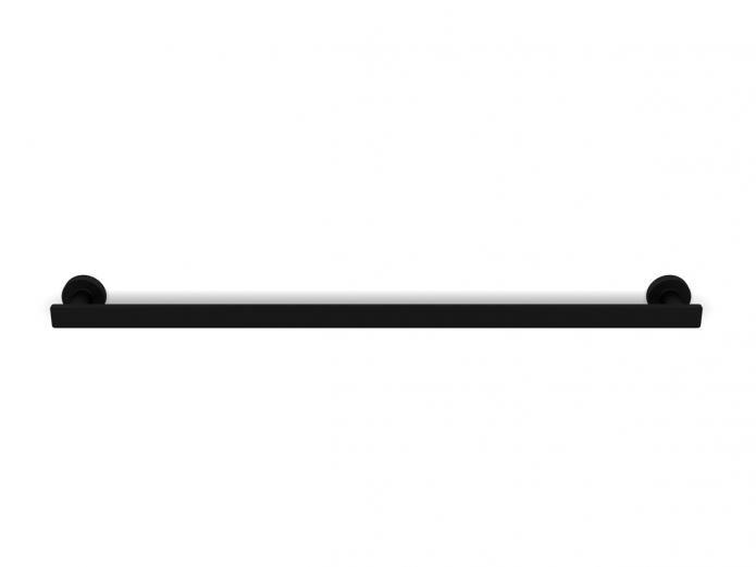 DOWNSTAIRS BATHROOM - Milli Axon 600 Single Towel Rail Black