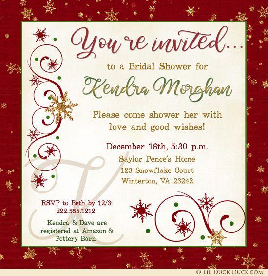 Wedding Invitations Christmas