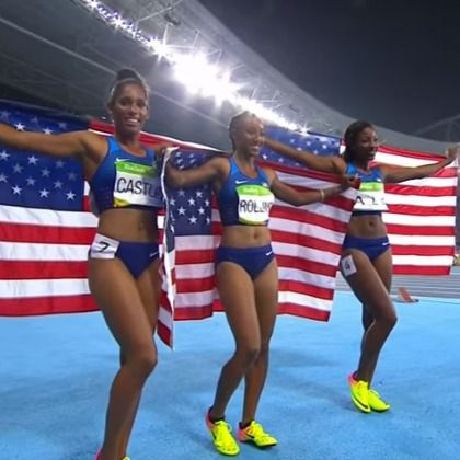 In a history-making moment, three Black women hurdlers swept the 100-meter…