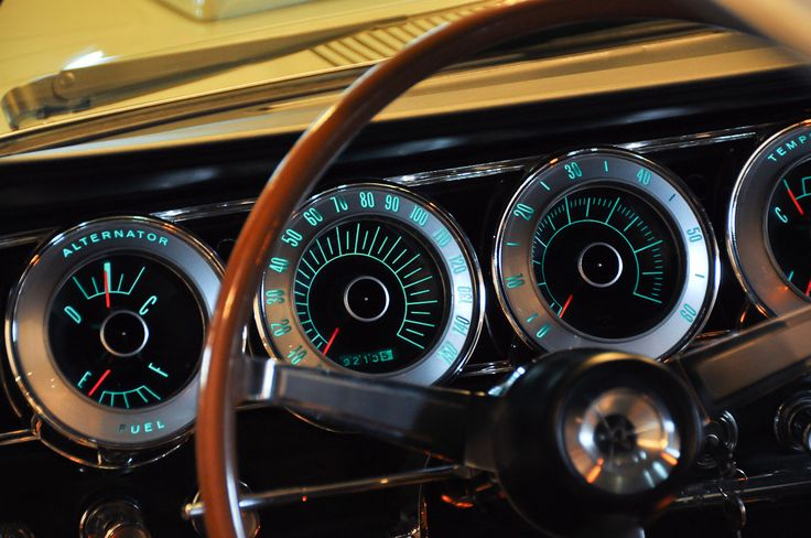 1966 Dodge Charger instrument panel. cool