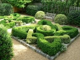 The knot garden at Barnsley House. Rosemary Verey