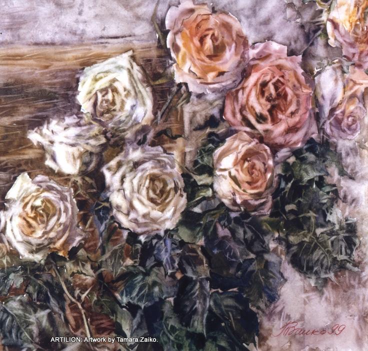 Tamara Zaiko. Roses. Birthday. Still life. Paper, watercolor. Subject: #art #artist #artwork #watercolor #painting #flowers #roses #bouque #stillife. Тамара Заико. Розы. День рождения. Бумага, акварель. Темы: натюрморт, цветы, розы, букет.