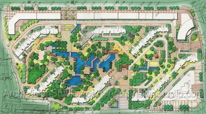 Residential site plan examples landscape plan for Residential site plan