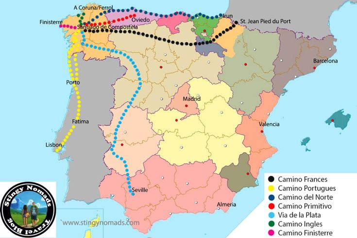 Many Routes Of The Camino De Santiago Choose The Right One Stingy Nomads In 2020 Camino De Santiago The Camino Santiago